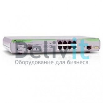 Коммутатор Allied Telesis 8x10/100/1000Mbps port managed switch with 1 SFP uplink slot, Fixed AC power supply, RJ45 Console connector
