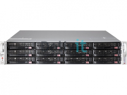 "Серверная платформа Supermicro 2U, 2 x Socket 2011, 16DDR3 ECC, 2х10Gbit LAN, 12 HotSwap SAS/SATA, 3.5"", 2x920 Wt"
