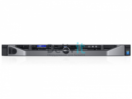 "Сервер Dell PowerEdge R230 E3-1240v5 (3.5Ghz) 4C/8T 8M, 16GB (1x16GB) 2133 UDIMM, 1Tb SATA 6Gbps 7.2k 3.5"" HDD, H330, DVD-RW, Broadcom 5720 1Gbps DP, PS 250W, iDRAC8 Enterprise, 2/4 Post 1/2U Static Rails, Rack-mount 1U, Bezel, 3y NBD"