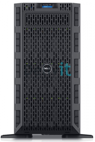 "Сервер Dell PowerEdge T630 18Bx3.5"" E5-2640v4 (2.4GHz, 25M, 8GT / s, 10C), 16GB (1*16GB) 2400MHz DR, H730P 2GB NV Cache, DVD+ / -RW SATA Internal, 1.2TB SAS 10k 2.5in Hot-plug HD 3.5in Hyb Carr, iDRAC8 Enterprise, RPS 1100W, No Rails, 3Y PNBD"