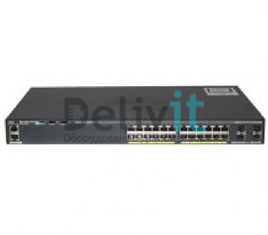 Коммутатор Cisco Catalyst 2960X 24 10/100/1000 ports and 4 SFP module slots