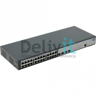 Коммутатор HP 1920-24G Switch Web-managed, Limited CLI, 24*10/100/1000 + 4*SFP, static routing, fanless, rack-mounting, 19""