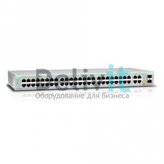 Коммутатор Allied Telesis 48 Port Fast Ethernet WebSmart Switch with 4 uplink ports (2x10/100/1000T and  2xSFP-10/100/1000T Combo ports)