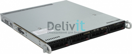 "Серверная платформа Supermicro 1U, 1xSocket 2011, 8DDR4 ECC, 2хGbit LAN, 4 HotSwap SATA, 3.5"", 1x350 Wt"