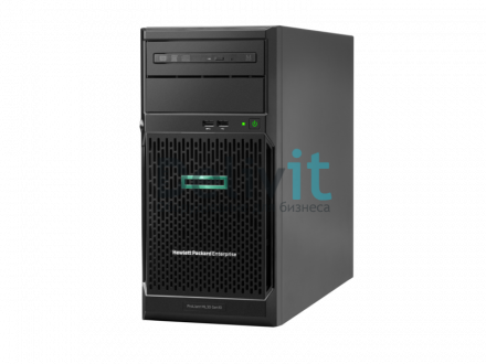 Сервер HPE ML30 Gen10, 1x Intel Xeon E-2124 4C 3.3GHz, 1x16GB-U DDR4, S100i/ZM (RAID 0,1,5,10) noHDD (4 LFF 3.5'' HP) 1x350W NHP NonRPS (up2x500), 2x1Gb/s, noDVD, ClearOS, Tower-4U, 3-1-1