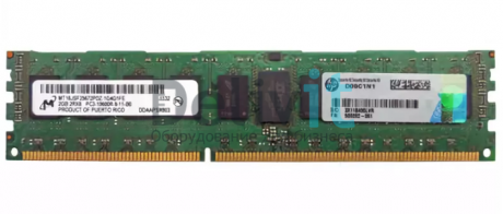 Модуль памяти HP 2GB (1x2GB) PC3-10600 Registered CAS 9 Dual Rank x 8 DRAM Memory Kit