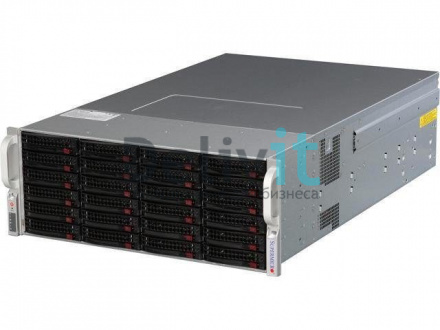 "Серверная платформа Supermicro 4U, 2 x Socket 2011, 16DDR3 ECC, 2хGbit LAN, 36 HotSwap SAS/SATA, 3.5"", 4x1280 Wt"